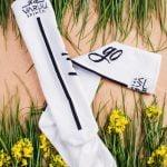 Baltos ilgos kojines